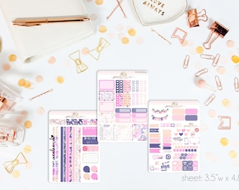 Carry-On MINI Weekly Kit // 130+ Matte Planner Stickers // Perfect for your Personal Planner // WKM0630