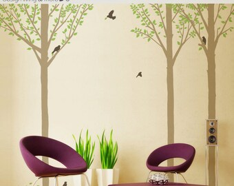 Bird Tree Decals for Baby Nursery or Modern Home - 0047