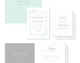 Wedding Invitation Suite Sample - Snowfall