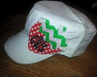 Monogrammed Strawberry Cadet Hat