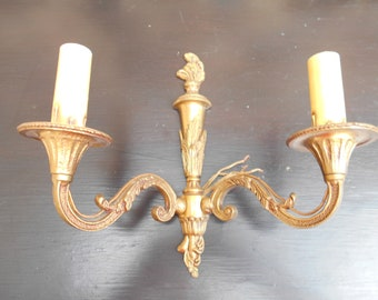Beautiful French Bronze Napoleon Style Wall Sconce - double arm..