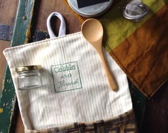 Tea travel pouch, tea travel kit, portable tea, herb pouch, teacher gift,  tea wallet, loose tea kit, travel gift, zero waste