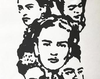 Frida Kahlo Collage Screenprint Poster - Signed