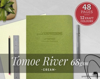 Tomoe River Cream 68gsm - Traveler's Notebook  Bullet Journal  Scrapbooking  Regular A5 Wide B6 Slim A6