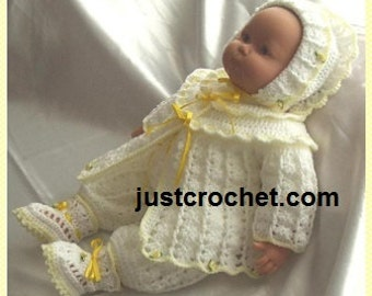 4 piece outfit Baby Crochet Pattern (DOWNLOAD) 09