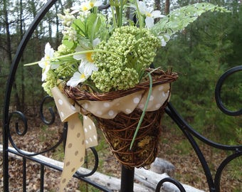 Spring/Summer wicker door basket