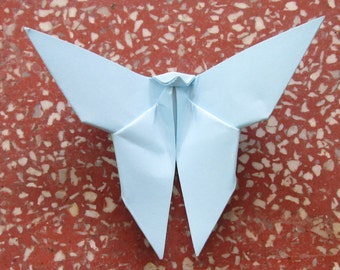 100 Paper Origami Butterflies_Blue IceColor (V 3), 4  x 4 inches (10 x 10 cm) only for  8.00 USD