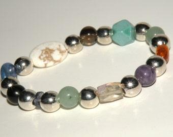 Migraine/Headache Gemstone Healing Bracelet stretch *FREE SHIPPING USA* 466