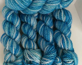 Hand Dyed 100% Baby Alpaca Bulky Yarn