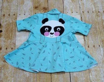 Cute 4T Panda open fitted Cardigan