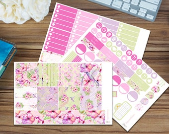 Spring Flight Horizontal Weekly Kit [95 x Matte] Perfect for your Erin Condren!