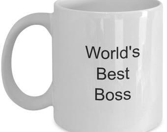 Boss appreciation, feminist mug, boss gift, gift for boss, worlds best boss, boss mug, boss lady, worlds best boss, world best boss mug