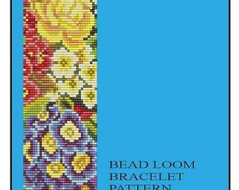 Bead Loom Bracelet Flower Power 1 Pattern PDF