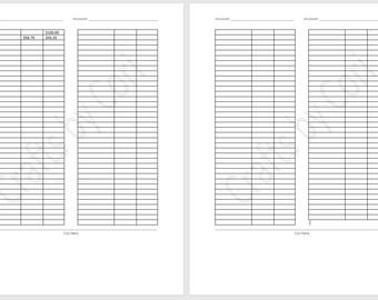 Expense Tracker / Finance Ledger 4 pg booklet Standard / Narrow TN Insert