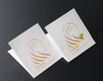 Custom Cloth Labels, Silk Screen, Garment Care Labels, Satin Care Labels, Sewing Tag, Care Label for Cloth, Printed Fabric Label, Free Ship.