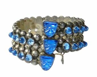 Vintage Mexican Sterling Silver Bangle Bracelet