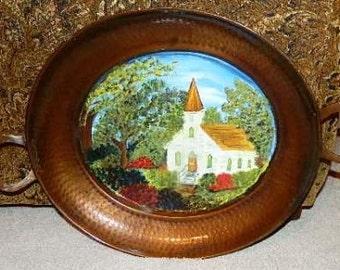 Country Church Tray