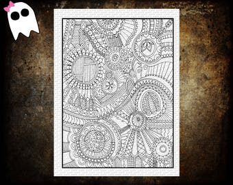 CP-15 /// Printable Coloring Page - Adult Coloring Page - Kids Coloring Page - Printable Coloring - Printable Page - Instant Download