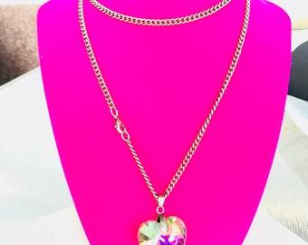 Swarovski crystal necklace heart pendant