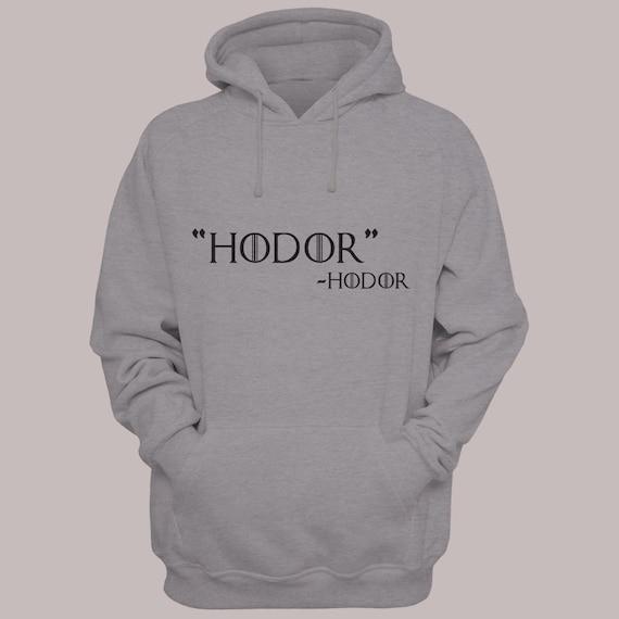 "Game of Thrones ""HODOR"" by Hodor Hooded Sweater S-XL Available Hoodie Sweatshirt"