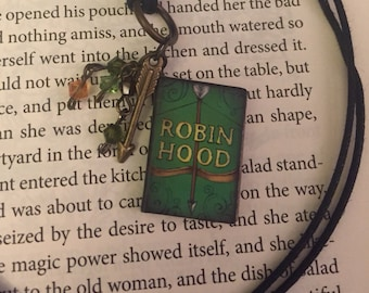 """Robin Hood Charm Pendant necklace """"The Outlaw of Sherwood"""""""