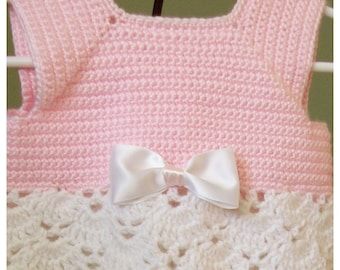 Sweet Dress and Hat Set (Pink and White)