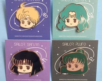 Outer Senshi Enamel Pin Set Sale