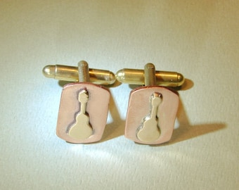 Bronze and Copper Cuff Links - Anniversary gift