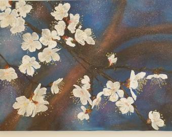 Flowers.Original Large Oil Painting .