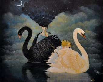 """Limited edition giclée print of original painting by Lucy Campbell - """"Searching for Equilibrium"""""""