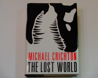Michael Crichton - The Lost World - Science Fiction - Horror Fiction - Knopf First Edition 1995 - Vintage Hardcover Book - Techno Thriller