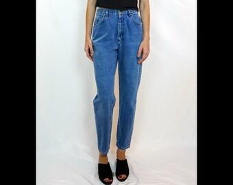 "Waist 28"" Lee Jeans High Waisted Jeans | Vintage Lee Jeans for Women Size 6 | Vintage Mom Jeans Size 28 | 90s Jeans Size 28 | Jeans Size 6"