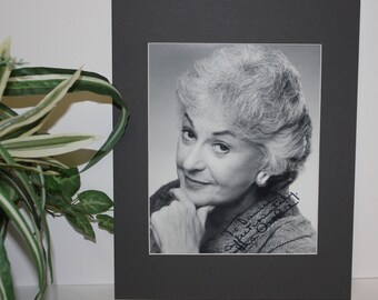 The Golden Girls Photo with Mat and Signed Autograph of Bea Arthur. Professionally matted display measures a final size of 11x14.
