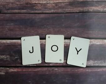 Brief von Karten-3 Buchstaben PIck Ihr eigenes Wort, Joy, ich tun