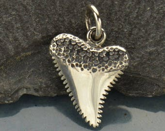 Sterling Silver Shark Tooth Charm