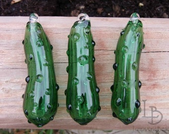 Hand Blown Glass Christmas Pickle Ornaments
