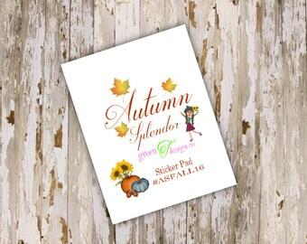Autumn Splendor Sticker Pad