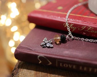 Bumblebee charm necklace