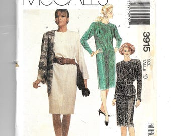 McCall's  Misses' One Piece Dress and Two Piece Dress  Pattern 3915