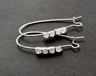 2pcs (1pair) 35mm Earring Hook Earring Wire EB0019