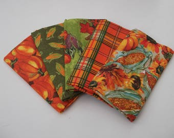 5 fat quarter 100% cotton bundle pumpkins/sweetcorn