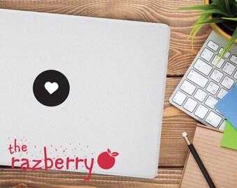 Love Heart Mac Apple Logo Cover Laptop Vinyl Decal Sticker Macbook Decal Valentine Shape Square Hexagon Triangle MacBook Vinyl Sticker Decal