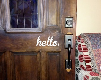 Hello & Goodbye Front Door Back Door Sticker SET! 2 Decals FREE SHIPPING!