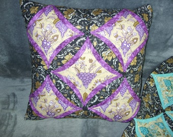 Pair of cathedral window cushion covers