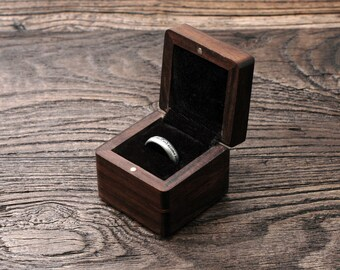 Personalized Proposal Ring Box, Engagement Ring Box, Rustic Wood Ring Box, Ring Box for Wedding, Gold Ring Box, Custom Wood Ring Box