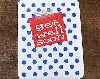 Get Well Soon Polka Dot Card
