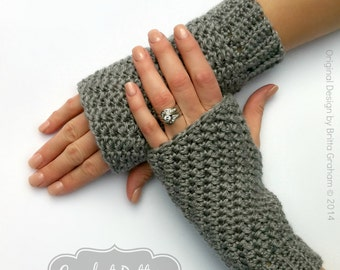 Fingerless Gloves Crochet Pattern No.915 Crochet Glove Pattern Quick and Easy Digital Download PDF English