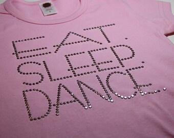 EAT.   SLEEP.   DANCE.    Rhinestud Tee by Daisy Creek Designs