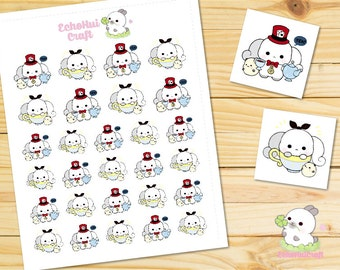 Tea Time Bunny Emotions Planner Stickers