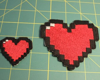 Pixel Heart iron-on patch